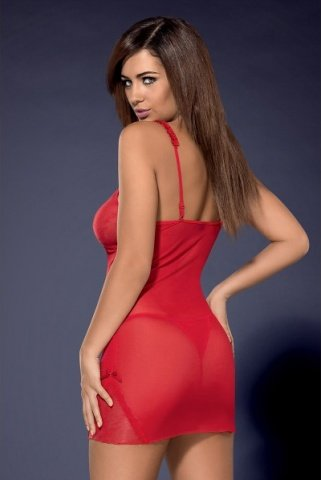Красная сорочка romansia chemise, фото 3