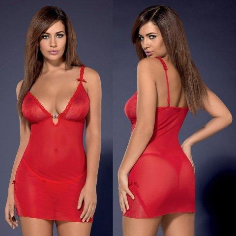 Красная сорочка romansia chemise