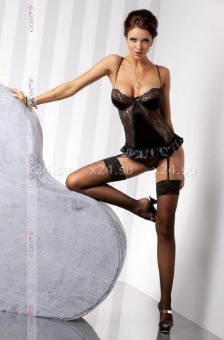 Чёрный корсаж Blanchet corset LXL