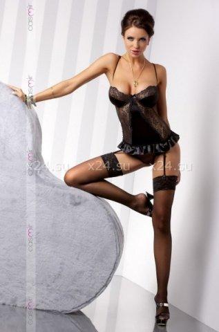 Чёрный корсаж Blanchet corset SM