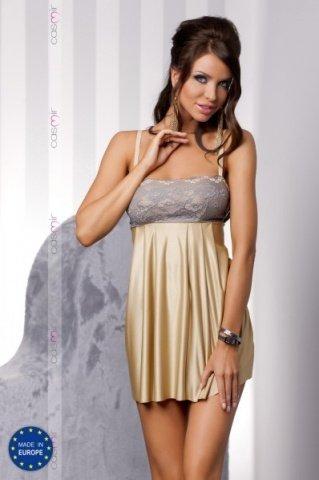 Комбинация и стринги золотистые honey chemise