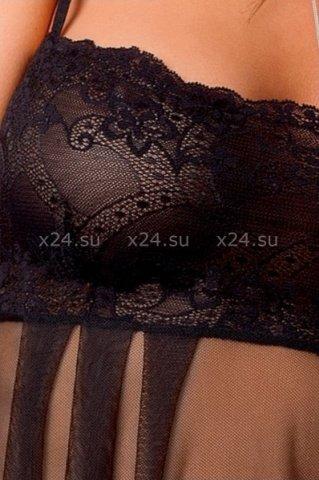 Комбинация и стринги черные nicolette chemise, фото 2