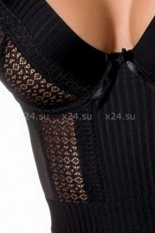Чёрная прозрачная сорочка Harriet Chemise, фото 2