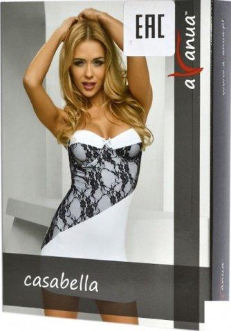 Платье Casabella, белое с черным кружевом, фото 3