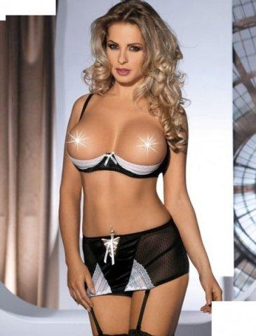 Комплект с открытой грудью Amarone, черно-белый