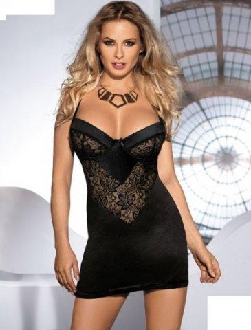 Платье Leis, черное с кружевом