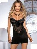 Платье Leis, черное с кружевом, L/XL - Секс-шоп Мир Оргазма
