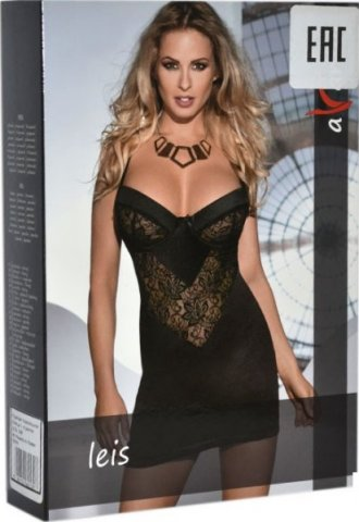 Платье Leis, черное с кружевом, фото 2