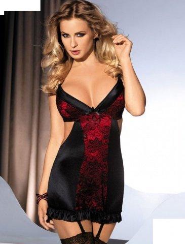 Платье Margot, черно-красное