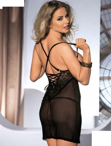 Платье с открытой грудью Monic, черное, фото 2