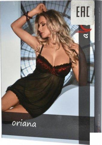 Платье Oriana, черно-красное, фото 3