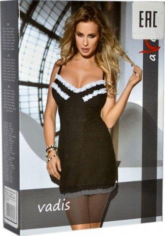 Платье Vadis, черное с белыми рюшами, фото 4