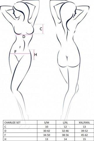 Комплект с открытой грудью Charlize, белый, фото 2