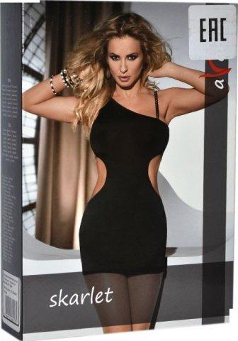 Платье с вырезами по бокам Skarlet, черное, фото 4