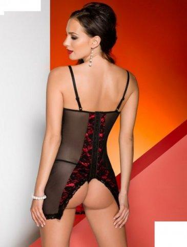 Платье Karmina, черно-красное, фото 2