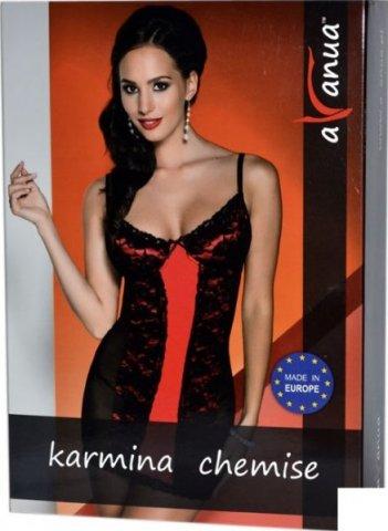 Платье Karmina, черно-красное, фото 4