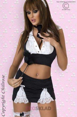 Костюм горничной Chilirose Obliging Rebecca, цвет Черно-белый, фото 3