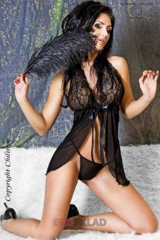 Нежный ажурный бэби-долл Chilirose, цвет Черный, фото 6