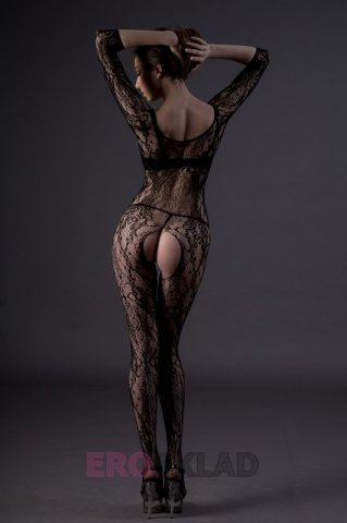 Ажурный комбинезон Chilirose, цвет Черный, фото 5