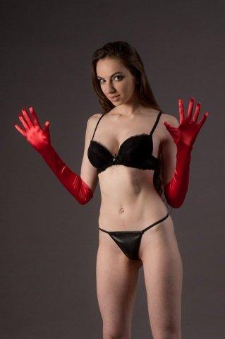Высокие перчатки Chilirose, цвет Красный, размер One Size