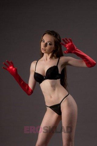 Высокие перчатки Chilirose, цвет Красный, размер One Size, фото 2