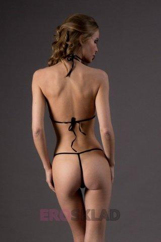 Комплект белья в сеточку Chilirose, цвет Черный, размер S/M, фото 4