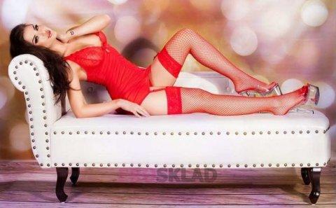 Сексуальный комплект со стрингами С цвет Красный, фото 3