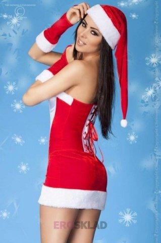 Сексуальный наряд снегурочки, размер L/XL, фото 2
