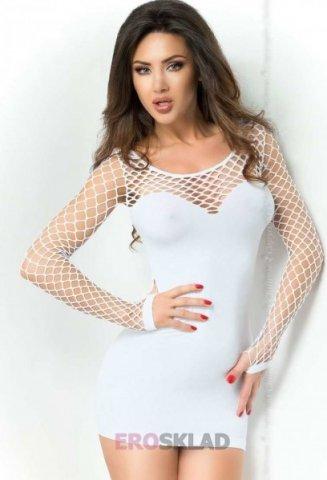 Мини-платье с сеткой Chilirose, цвет Белый, фото 6