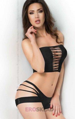 Сексуальный комплект с прорезями Chilirose, цвет Черный, фото 3