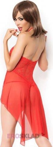 Легкая сорочка с кружевом цвет Красный, фото 5