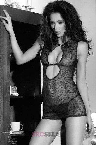 Сорочка и стринги С цвет Черный, размер L, фото 6