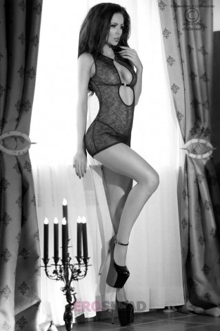 Сорочка и стринги С цвет Черный, фото 4