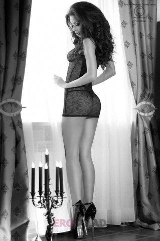 Сорочка и стринги С цвет Черный, размер XL, фото 5