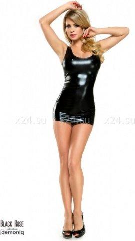 Двухстороннее платье с цепочками под винил Veronique, фото 3