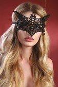 Чёрная ажурная маска 9 - Секс шоп Мир Оргазма