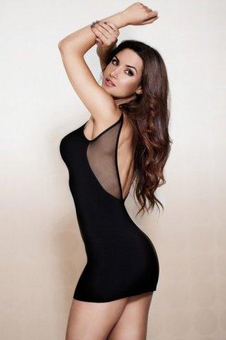 Платье с открытой спиной черное, фото 2