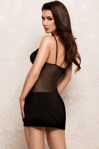 Платье с прозрачными вставками черное, фото 2