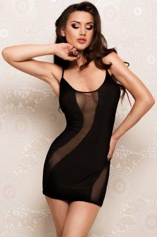 Платье с прозрачными вставками черное