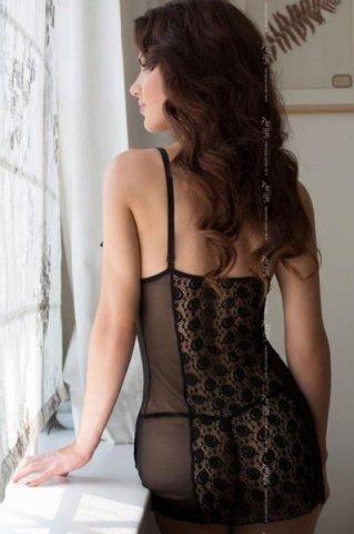 черная Lilith комбинация с открытой грудью, фото 2