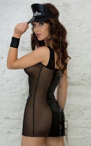 черный polly игровое платье на монии + фуражка, фото 2