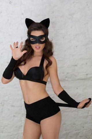 черный catwoman игровой костюм кошки