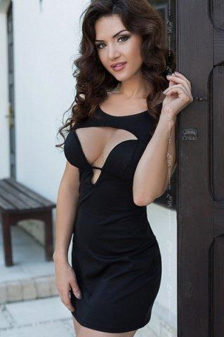черный dina платье