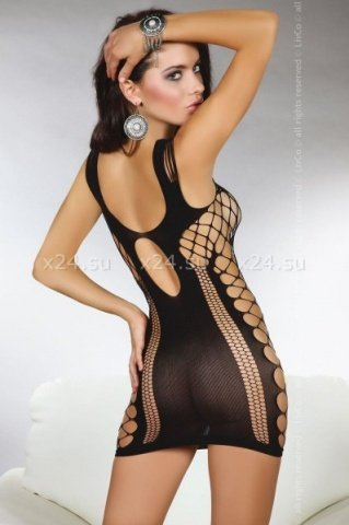 Мини-платье с узором из сетки Anshula black ( ), фото 2