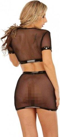 Блуза-сетка с короткими рукавами /чер