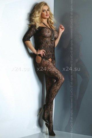 Черный комбинезон с открытыми плечами Damita ( )