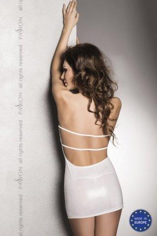 Сексуальное белое платье с открытой спиной beltis white l/xl, фото 2