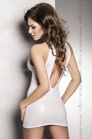 Страстное белое платье с глубоким декольте, открытой спиной и трусики femi white, фото 2