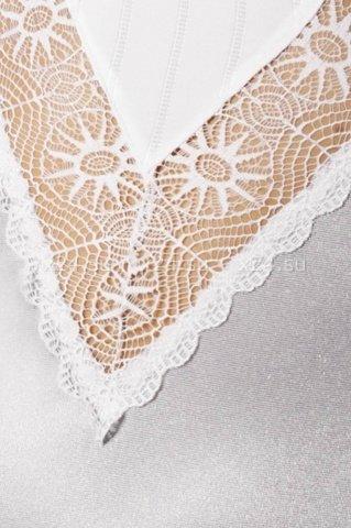 Комбинация белая с кружевными вставками + стринги, фото 2