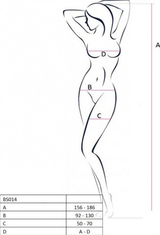Боди-комбинезон, крупная сетка, белый, размер универсальный, фото 3